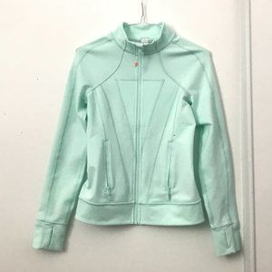 Ivivva Teal Zip Up Athletic Sweater